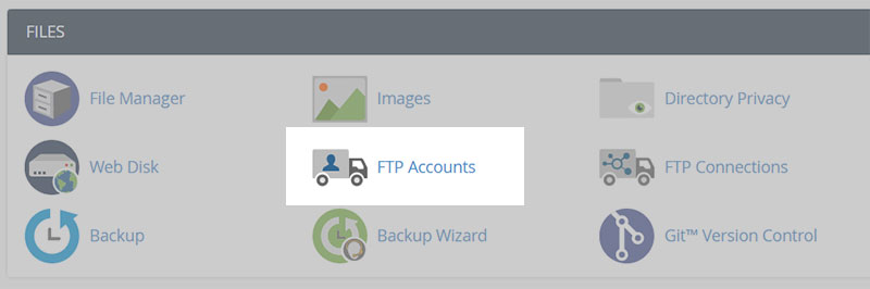 Cpanel FTP Accounts